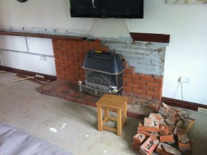 Local Essex Handyman removing old fireplace